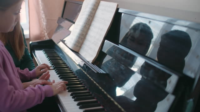 Learning to play piano