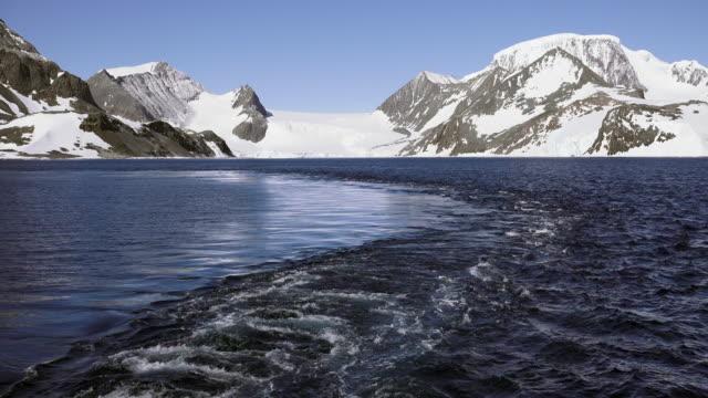 leaving hope bay, antarctic peninsula, southern ocean - antarctic peninsula stock videos & royalty-free footage