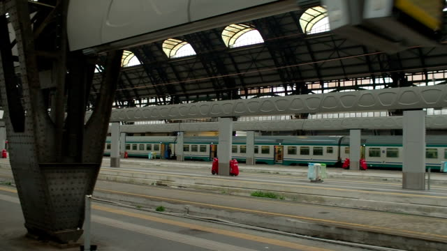 Leaving Milan Central Railway Station, Train Window Point of View