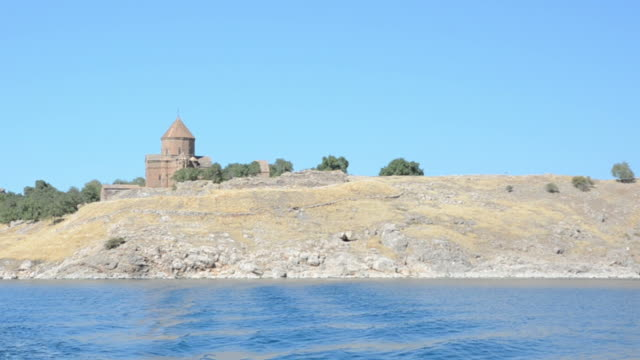 leaving the akhtamar island - lake van stock videos and b-roll footage