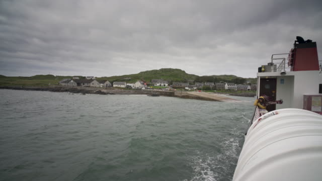 leaving the island of iona on a blustery summers morning - hebrides stock videos & royalty-free footage