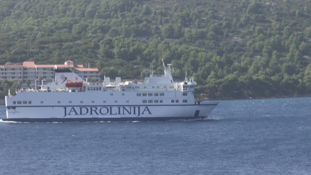 leaving vis on its way to split. vis is the closest croatian island to italy. - adriatic sea stock videos & royalty-free footage