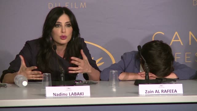 lebanese actress director nadine labaki one of three female filmmakers among the 21 contenders in competition at cannes wins the third place jury... - 71st international cannes film festival stock videos & royalty-free footage