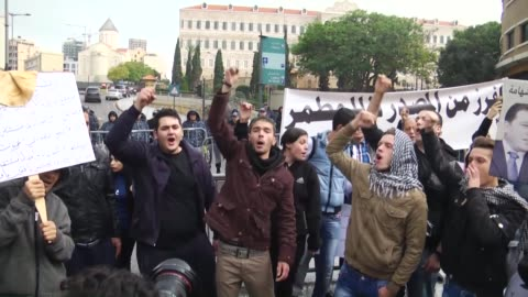 lebanese anti-government protesters clash with policemen outside the environment ministry in support of activists who were detained after staging a... - 2016 stock videos & royalty-free footage