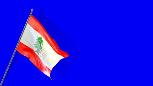 lebanese flag rising - lebanese flag stock videos and b-roll footage