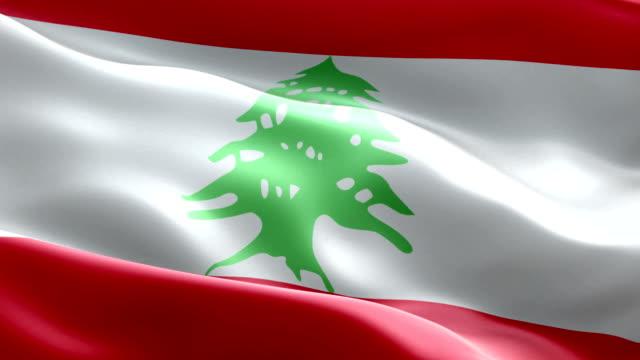 lebanese flag - lebanese flag stock videos and b-roll footage
