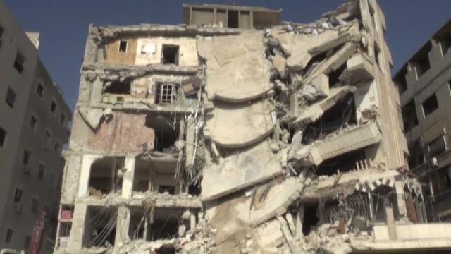 vídeos de stock, filmes e b-roll de lebanese militant notorious for the murder of three israelis including a four year old girl has been killed in an israeli air raid near the syrian... - air raid