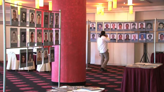 lebanese prisoners in syria exhibition on december 10 2013 in beirut lebanon - prisoner stock videos & royalty-free footage