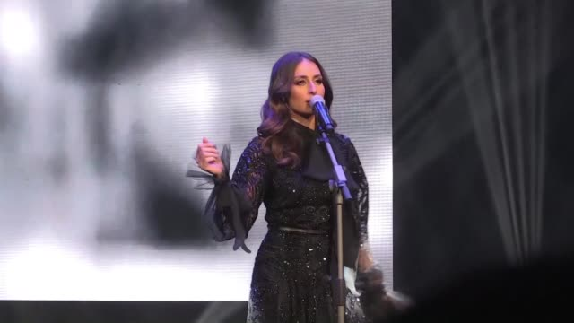 lebanese soprano singer hiba tawaji gives first female concert in riyadh - singer stock videos & royalty-free footage