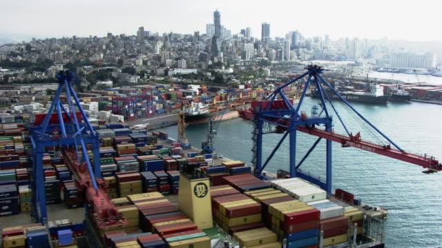 vidéos et rushes de lebanon: beirut's harbor - port
