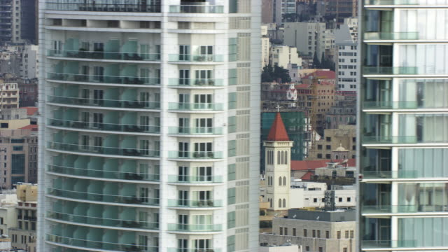 lebanon : close-up on the building of beyrouth - beirut stock videos & royalty-free footage