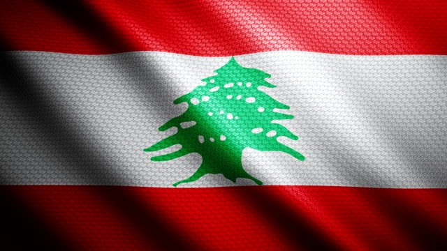 lebanon flag 4k - lebanon country stock videos & royalty-free footage