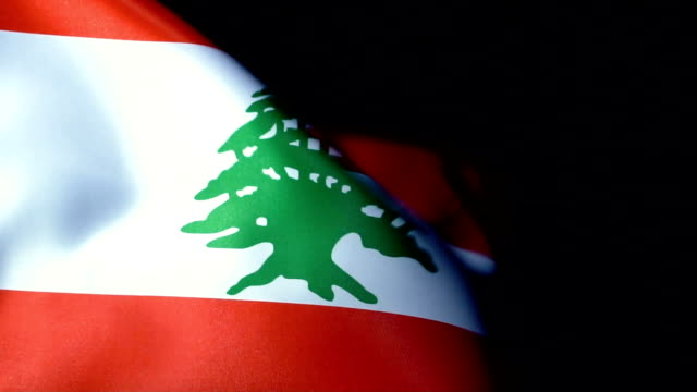 lebanon flag flapping - lebanon country stock videos & royalty-free footage