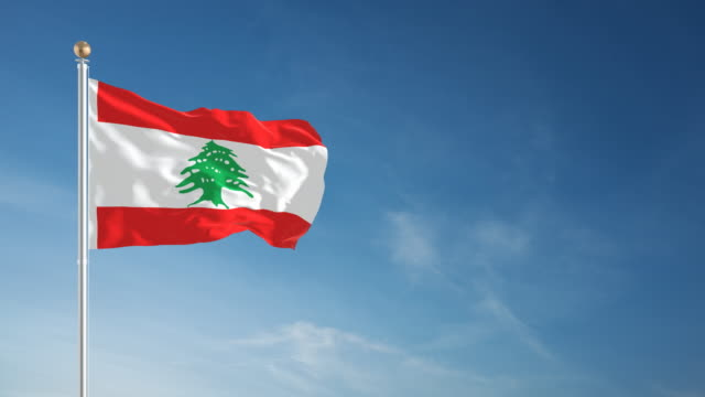 4k lebanon flag - loopable - lebanese flag stock videos and b-roll footage