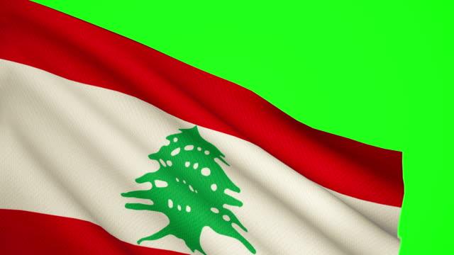 lebanon flag luma matte - lebanese flag stock videos and b-roll footage