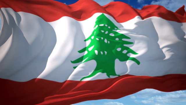 lebanon flag - lebanon country stock videos & royalty-free footage