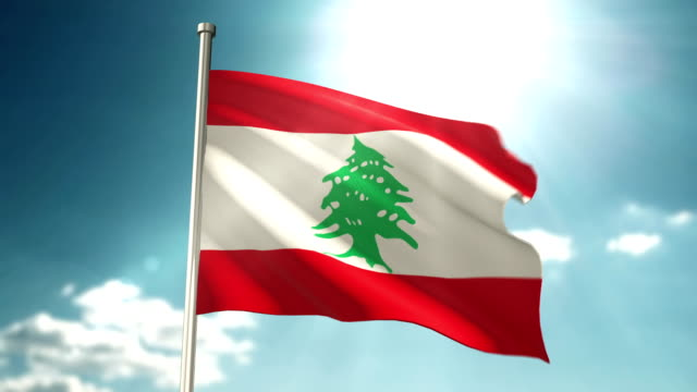 lebanon flag - lebanese flag stock videos and b-roll footage