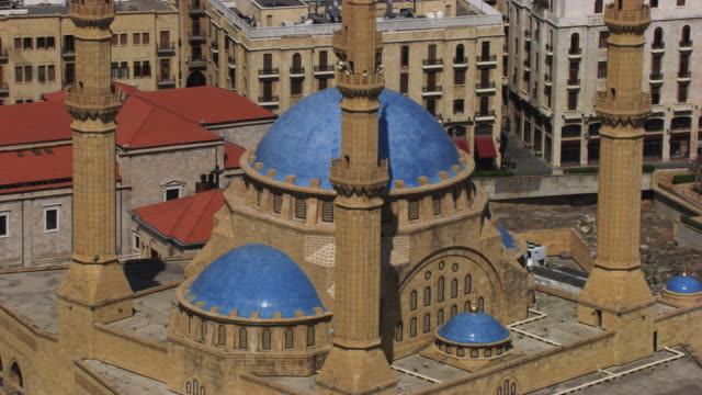lebanon: mohammed al-amin mosque - beirut stock videos & royalty-free footage