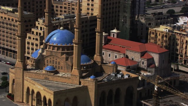 lebanon : mosque of beirut - beirut stock videos & royalty-free footage