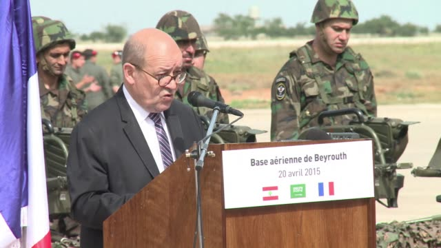 lebanon on monday received the first french weapons in a $3 billion saudi funded programme intended to bolster its army to take on jihadist threats... - nackenrolle kopfkissen stock-videos und b-roll-filmmaterial