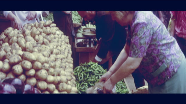 1968 lebanon - outdoor market - beirut stock videos & royalty-free footage