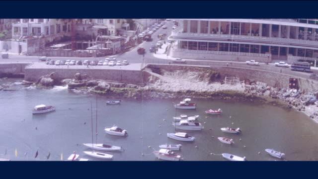 1968 Lebanon - pan along Port of Beirut