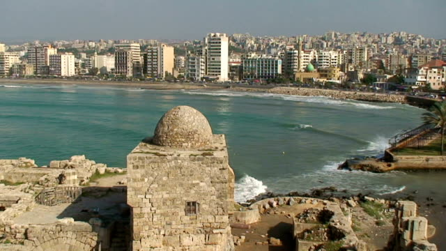 Lebanon, Sidone, Saida, view from Sea Citadel
