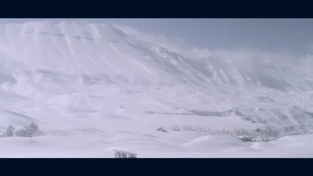 1968 lebanon - snow covered mountains - ski lodge stock videos & royalty-free footage