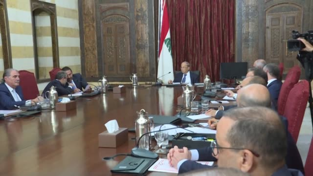 lebanon stresses its right to defend the country by any means after a israeli drone attack hit the beirut stronghold of the hezbollah movement - lebanon country stock videos & royalty-free footage