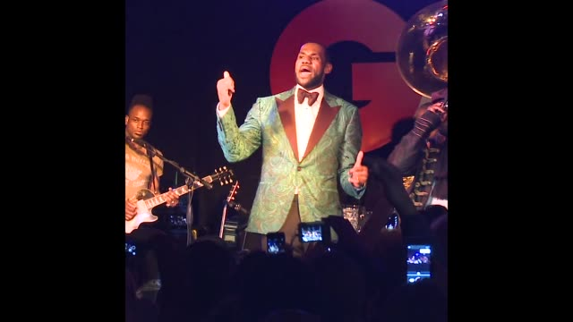 LeBron James at GQ And LeBron James Celebrate All Star Style And The March Issue With Special Performance By The Roots
