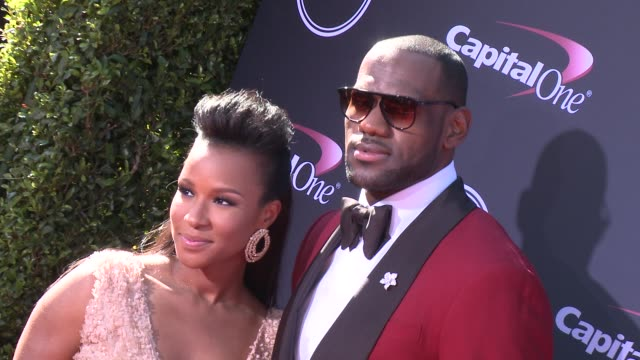 lebron james at the 2013 espy awards on 7/17/2013 in los angeles, ca. - espy awards stock videos & royalty-free footage