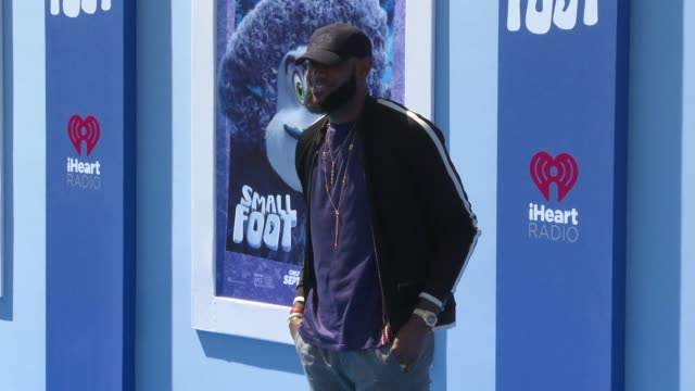 LeBron James at the Smallfoot World Premiere at Regency Village Theatre on September 22 2018 in Westwood California