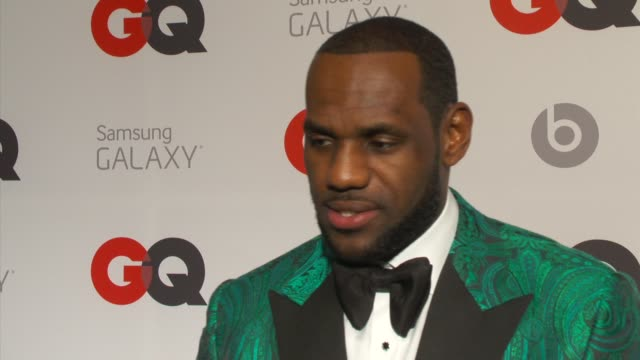 """lebron james on what gq means to him, his personal style, his """"mount rushmore"""" of nba style, and on being on the cover of gq at gq and lebron james... - interview raw footage stock videos & royalty-free footage"""
