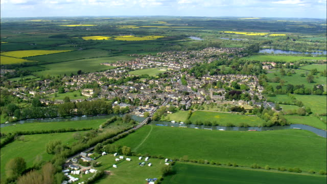 Lechlade  - Aerial View - England,  Gloucestershire,  Cotswold District,  United Kingdom
