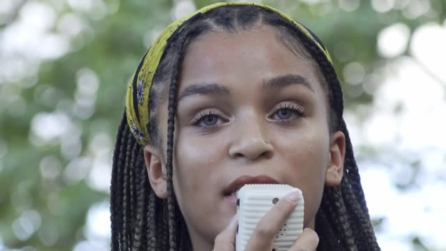 led by a black lives matter youth organization, warriors in the garden, demonstrators march through the bronx into upper manhattan, nyc. the... - youth culture stock videos & royalty-free footage