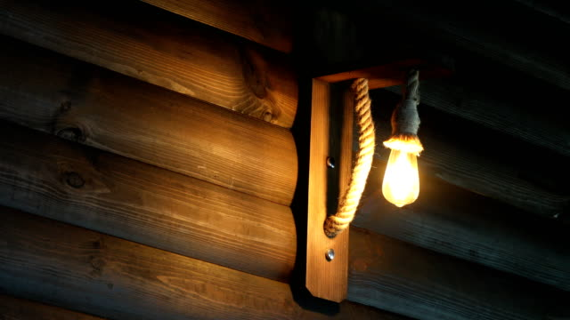 led light decaration and wooden floor. - glowing doorway stock videos & royalty-free footage