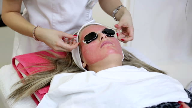 led light therapy-eye protection - beauty treatment stock videos and b-roll footage