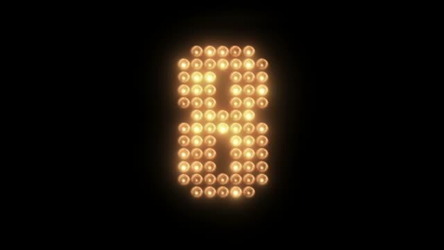 led lights board countdown. - digital enhancement stock videos & royalty-free footage