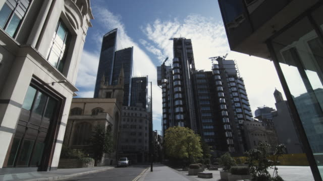 WS Ledenhall Street with Willis building and Lloyds of London / London, United Kingdom