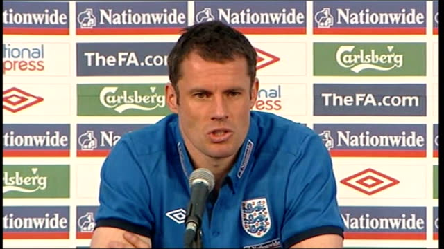 Ledley King injury INT Jamie Carragher press conference saying Green seems fine SOT ENGLAND London Misia Girvis set up shots and interview SOT