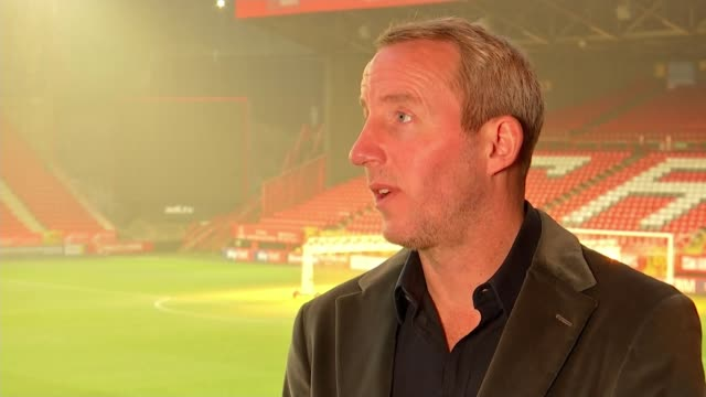 lee bowyer offered new five year contract as charlton athletic manager; england: london: charlton: the valley: ext lee bowyer set up shot with... - interview raw footage stock videos & royalty-free footage