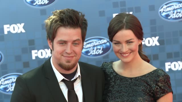 lee dewyze at the fox's 'american idol 2011' finale results show at los angeles ca - results show stock videos & royalty-free footage
