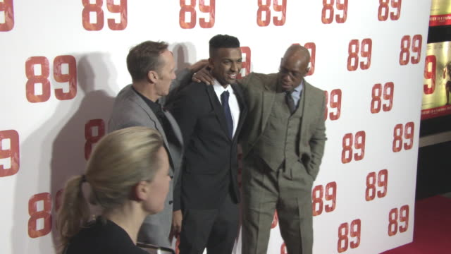 lee dixon ryan rocastle ian wright at '89' world premiere on november 8 2017 in london england - ian wright stock videos and b-roll footage