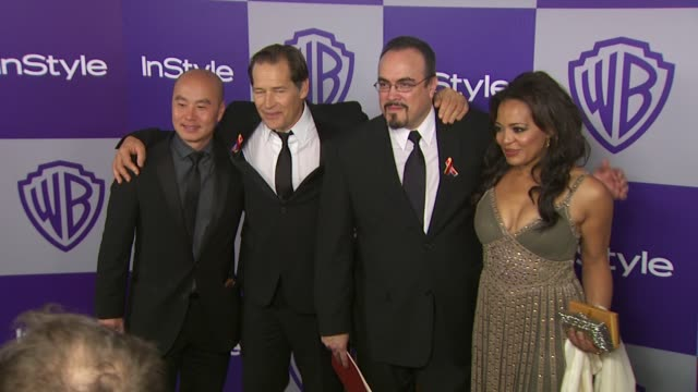 vídeos y material grabado en eventos de stock de cs lee james remar david zayas at the warner bros and instyle golden globe afterparty at beverly hills ca - warner bros
