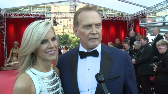 interview lee majors at 55th monte carlo tv festival day 4 on june 18 2015 in montecarlo monaco - lee majors stock videos and b-roll footage