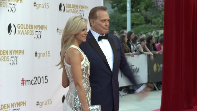 lee majors at 55th monte carlo tv festival day 4 on june 18 2015 in montecarlo monaco - lee majors stock videos and b-roll footage