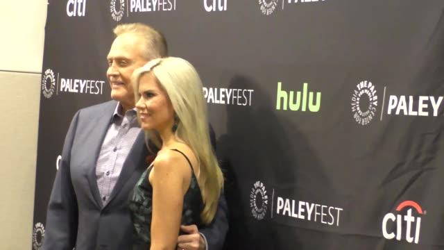lee majors faith majors at the ash vs evil dead paley fest 2016 fall tv preview at paley center in beverly hills in celebrity sightings in los angeles - lee majors stock videos and b-roll footage