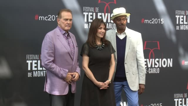 lee majors stepfanie kramer and antonio fargas at 55th monte carlo tv festival day 2 on june 16 2015 in montecarlo monaco - lee majors stock videos and b-roll footage