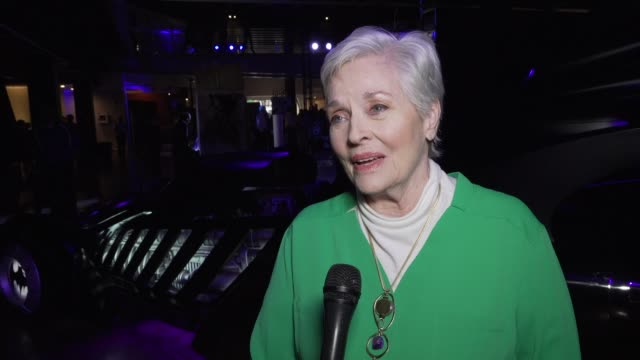 interview lee meriwether at the batman experience powered by att and comiccon museum character hall of fame induction at comiccon museum on july 17... - san diego comic con stock videos and b-roll footage