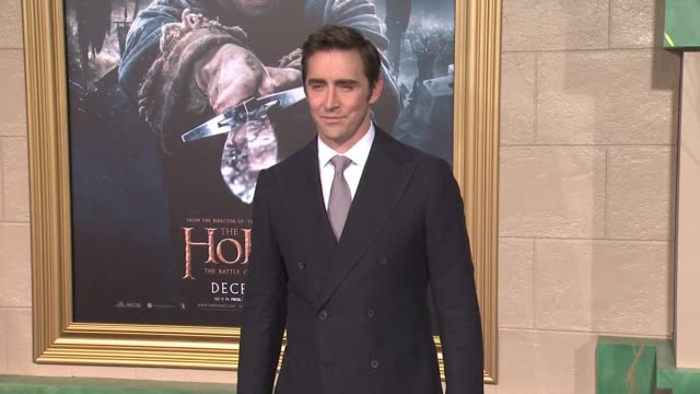 "lee pace at ""the hobbit: the battle of the five armies"" los angeles premiere at dolby theatre on december 09, 2014 in hollywood, california. - the hobbit: the battle of the five armies stock videos & royalty-free footage"